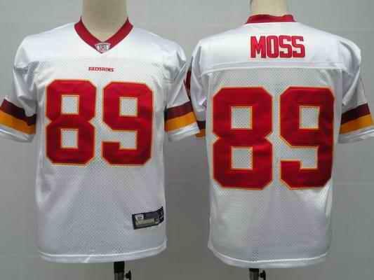 Redskins 89 Santana Moss white Jerseys