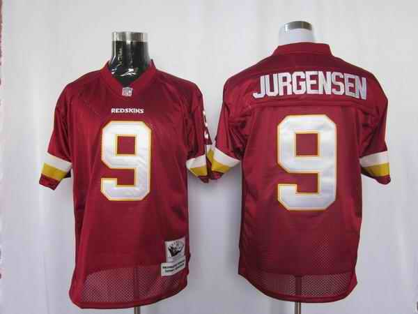 Redskins 9 Jurgensen red m&n Jerseys