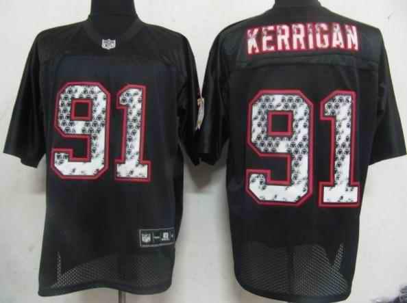 Redskins 91 Kerrigan black united sideline Jerseys