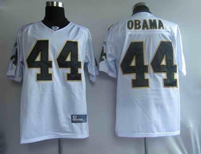Saints 44 Obama white Jerseys