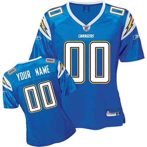 San Diego Chargers Women Customized Light Blue Jersey