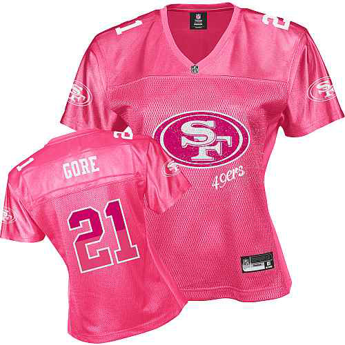 San Francisco 49ers 21 GORE pink Womens Jerseys