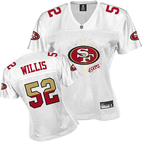 San Francisco 49ers 52 WILLIS white Womens Jerseys