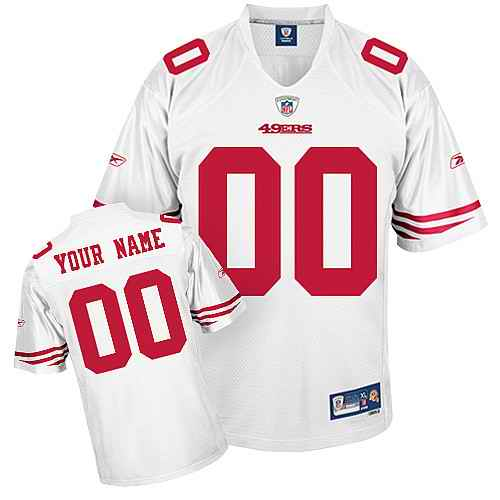 San Francisco 49ers Men Customized White Jersey