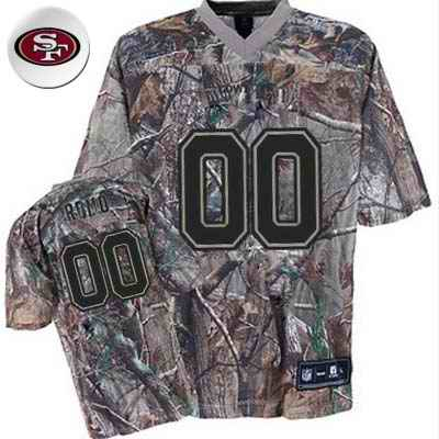 San Francisco 49ers Men Customized camo Jersey