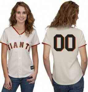 San Francisco Giants Blank Cream Women Custom Jerseys