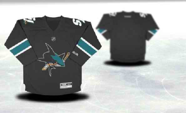 San Jose Sharks Youth Customized Black Third Jersey