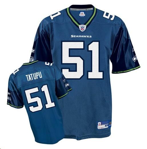 Seahawks 51 Lofa Tatupu blue Jerseys