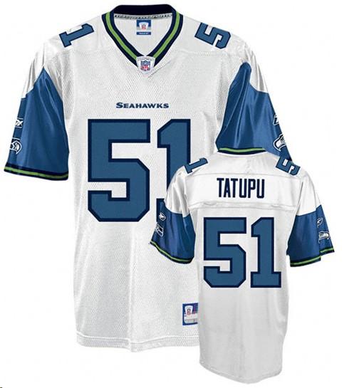 Seahawks 51 Lofa Tatupu white Jerseys