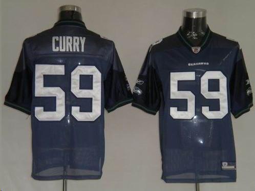 Seahawks 59 Curry navy Jerseys