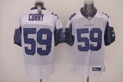 Seahawks 59 Curry white Jerseys