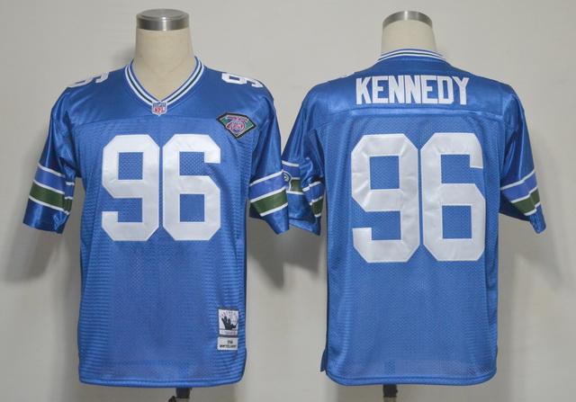 Seattle Seahawks 96 Kennedy Blue Throwback 1994 Jerseys