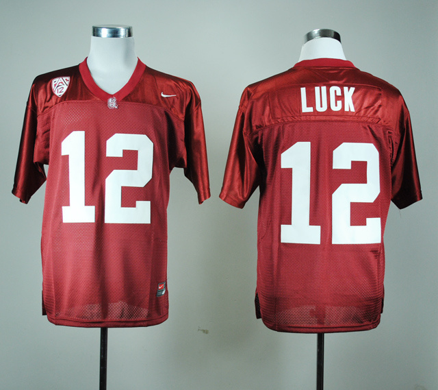 Stanford Cardinals 12 Andrew Luck Red Jerseys