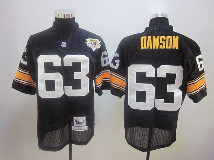 Steelers 63 Dawson1982 Throwback Black Jerseys