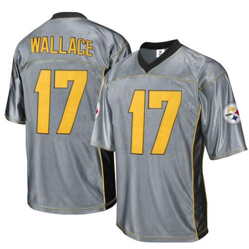Steelers 17 Wallace Grey Jersey