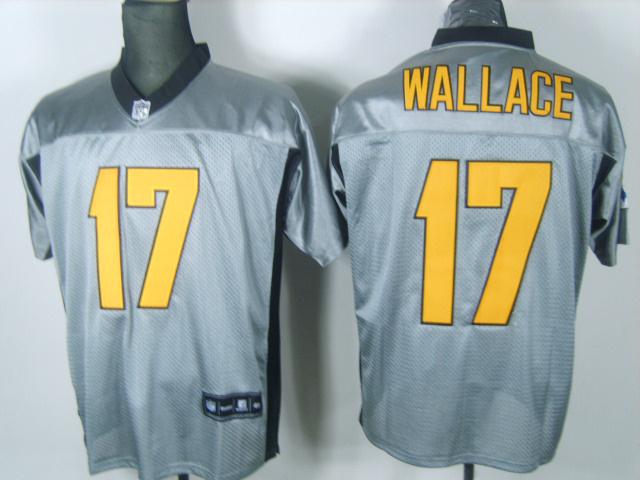 Steelers 17 Wallace Grey Jerseys