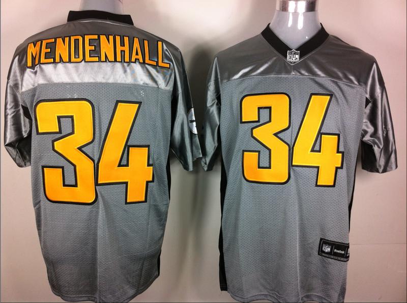 Steelers 34 Mendenhall Grey Jerseys