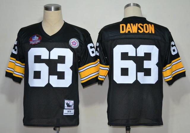 Steelers 63 Dawson Black M&N Hall of Fame 2012 Jerseys