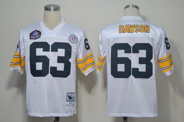 Steelers 63 Dawson White M&N 2012 Hall of Fame Jerseys