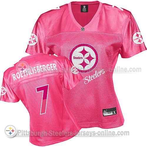 Steelers 7 Roethlisberger Pink 2011 Fem Fan Women Jerseys