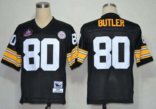 Steelers 80 Butler Black M&N Hall of Fame 2012 Jerseys