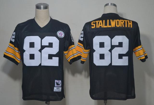 Steelers 82 Stallworth Black Throwback Jerseys