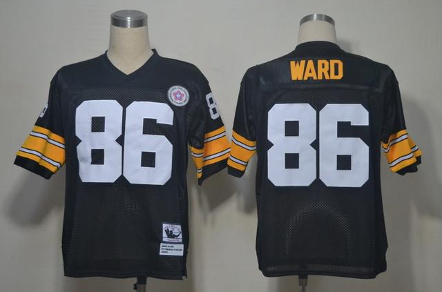 Steelers 86 Ward Black Throwback Jerseys