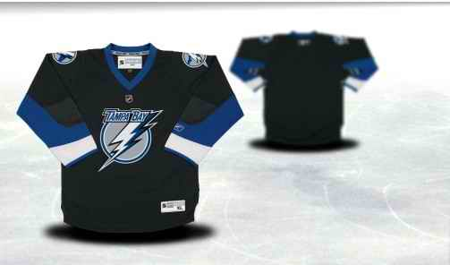 Tampa Bay Lightning Youth Customized Black Jersey