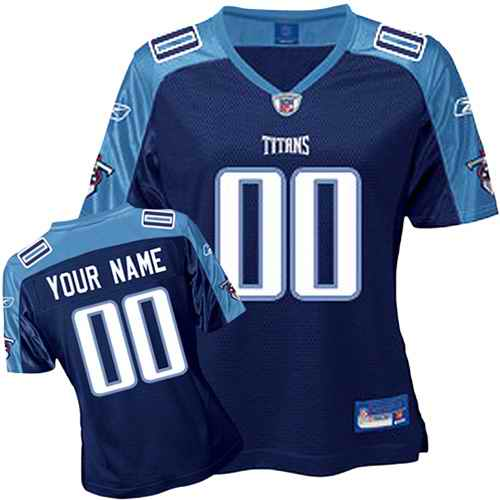 Tennessee Titans Women Customized Dark Blue Jersey