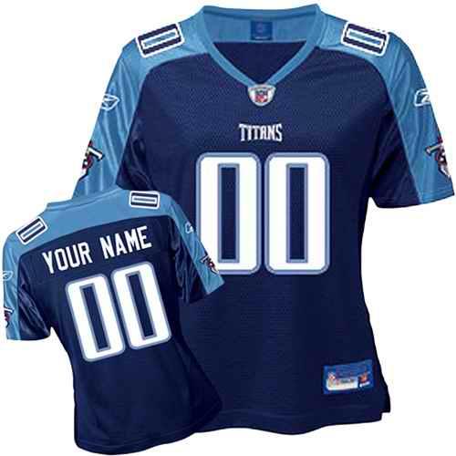 Tennessee Titans Women Customized Dark Blue Jersey