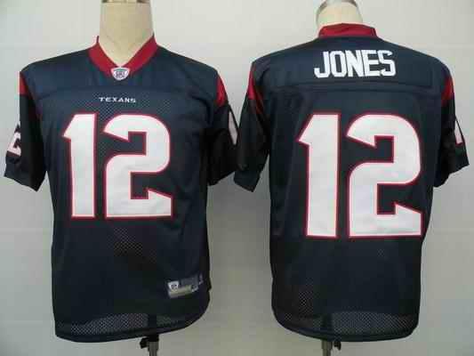 Texans 12 Jacoby Jones blue Jerseys