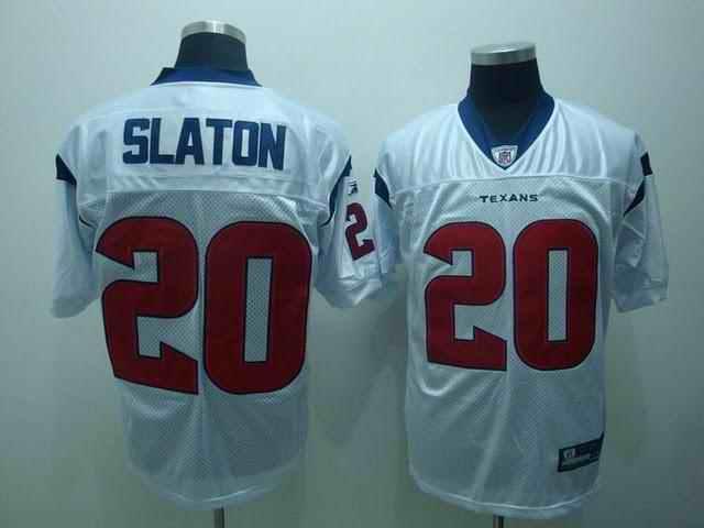 Texans 20 Steve Slaton white Jerseys