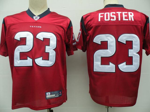 Texans 23 Foster Red Jerseys