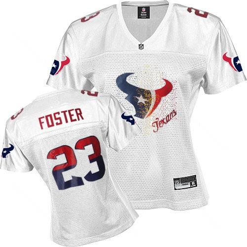 Texans 23 Foster White 2011 fem fan women Jerseys