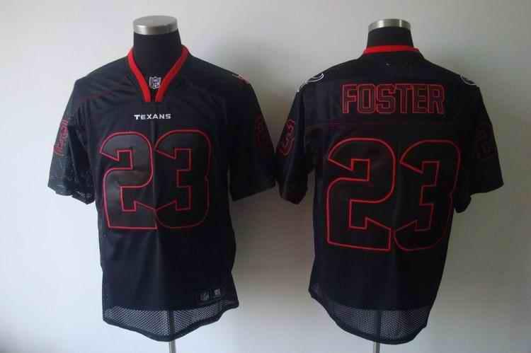 Texans 23 Foster black field shadow Jerseys