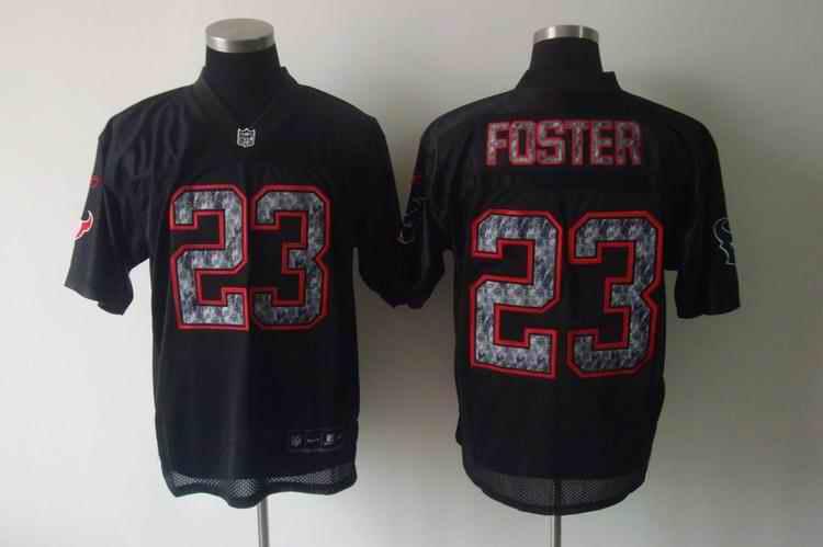 Texans 23 Foster black united sideline Jerseys