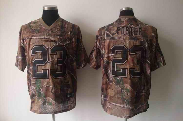 Texans 23 Foster camo Jerseys