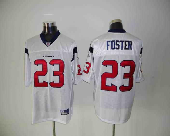 Texans 23 Foster white Jerseys