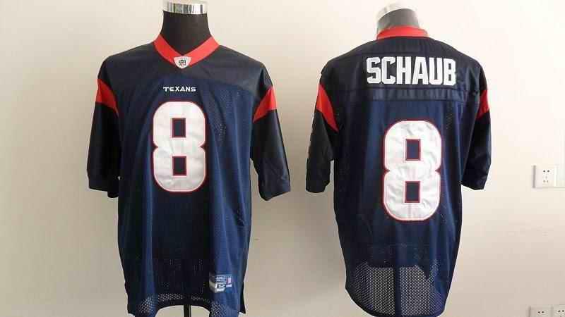 Texans 8 Schaub blue Jerseys
