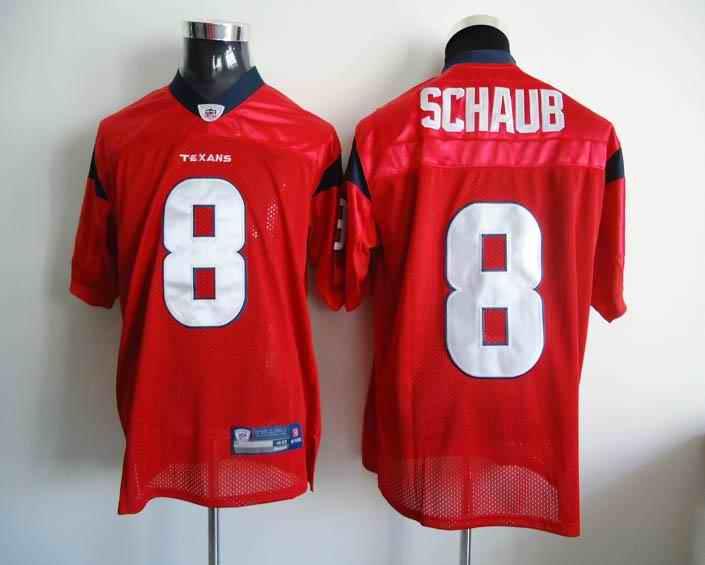 Texans 8 Schaub red Jerseys