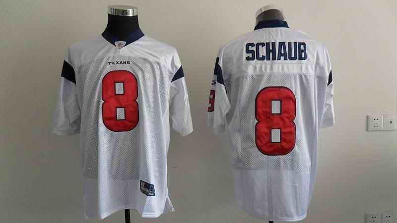 Texans 8 Schaub white Jerseys