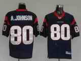 Texans 80 A.Johnson Blue Jerseys