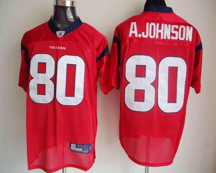 Texans 80 A.Johnson Red Jerseys