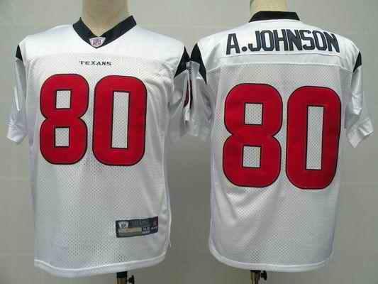 Texans 80 A.Johnson white Jerseys
