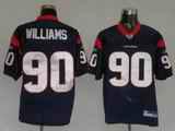 Texans 90 Williams Blue Jerseys
