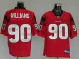 Texans 90 Williams Red Jerseys
