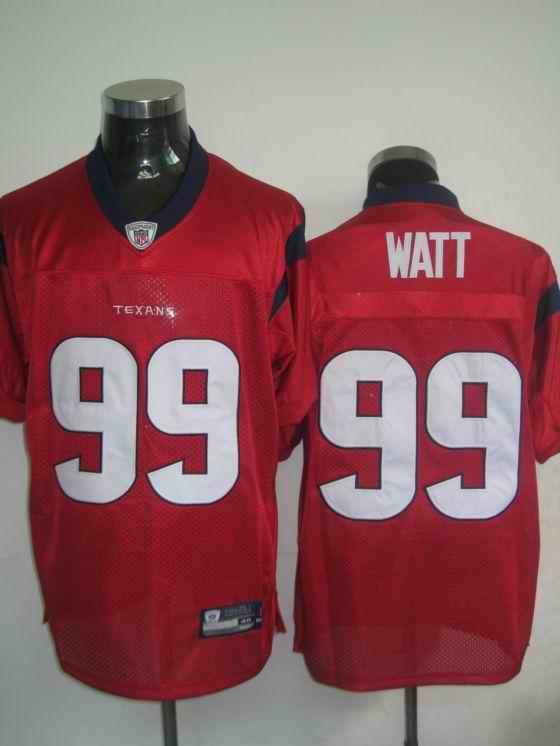 Texans 99 Watt red Jerseys