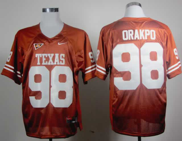 Texas Longhorns 98 Orakpo Burnt Orange Jerseys