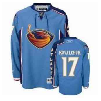 Thrashers 17 Ilya Kovalchuk light blue Jersey