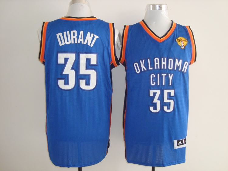 Thunder 35 Durant Blue Fianls Patch AAA Jerseys